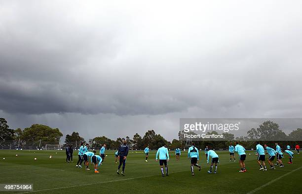 A general view during a Melbourne City ALeague training session at City Football Academy on November 26 2015 in Melbourne Australia