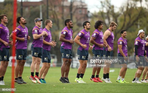 A general view during a Melbourne Storm NRL training session at Gosch's Paddock on May 3 2018 in Melbourne Australia