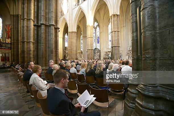 A general view during a memorial service for the late Sir Terry Wogan at Westminster Abbey on September 27 2016 in London England