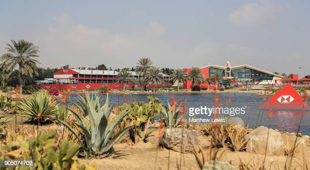 A general view during a practice round ahead of Abu Dhabi HSBC Golf Championship at Abu Dhabi Golf Club on January 15 2018 in Abu Dhabi United Arab...