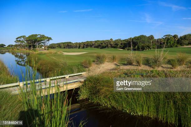 General view during a practice round prior to the 2021 PGA Championship at Kiawah Island Resort's Ocean Course on May 17, 2021 in Kiawah Island,...