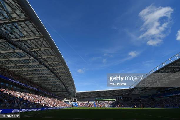 A general view during a Pre Season Friendly between Brighton Hove Albion and Atletico Madrid at Amex Stadium on August 6 2017 in Brighton England