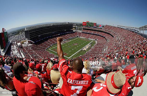 A general view during a preseason game between the San Francisco 49ers and Denver Broncos at Levi's Stadium on August 17 2014 in Santa Clara...