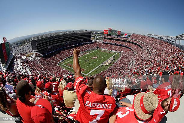 General view during a preseason game between the San Francisco 49ers and Denver Broncos at Levi's Stadium on August 17, 2014 in Santa Clara,...