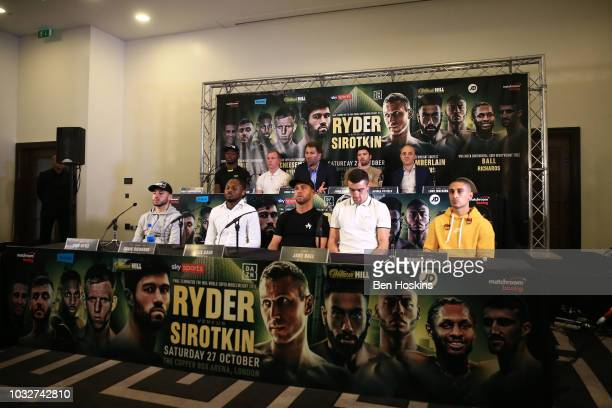 A general view during a press conference with boxing promoter Eddie Hearn at The Courthouse Hotel on September 13 2018 in London England