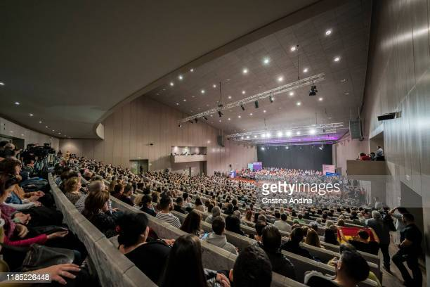General view during a rally of Pablo Iglesias general secretary of Podemos in Palexco A Coruña on November 3 2019 in A Coruna Spain