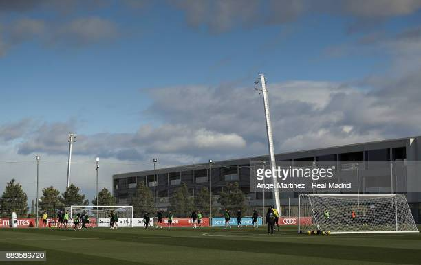 General view during a Real Madrid training session at Valdebebas training ground on December 1, 2017 in Madrid, Spain.