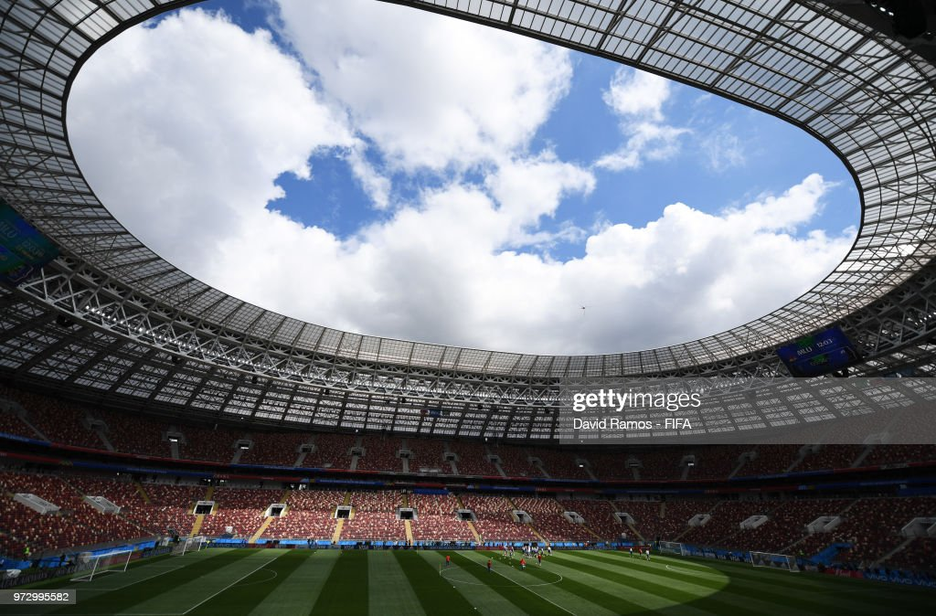 A general view during a Russia training session ahead of the 2018 FIFA World Cup opening match against Saudia Arabia at Luzhniki Stadium on June 13, 2018 in Moscow, Russia.