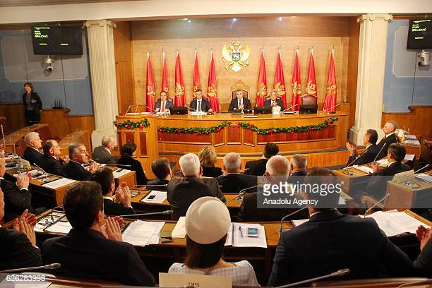 A general view during a session of the Montenegro Parliament in Podgorica Montenegro on 28 November 2016 Montenegro's parliament endorsed on Monday a...