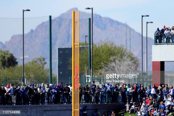 General view during a Spring Training game between the Milwaukee Brewers and the Chicago Cubs on Saturday February 23 2019 at Sloan Park in Mesa...
