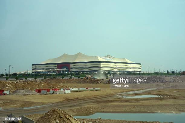 General view during a stadium tour of the Al Bayt Stadium in preparation for the FIFA World Cup Qatar 2022 on December 17, 2019 in Al Khor, Qatar.
