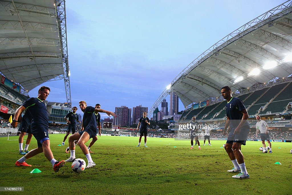 A general view during a Tottenham Hotspur Barclays Asia Trophy training session at Hong Kong Stadium on July 23, 2013 in So Kon Po, Hong Kong.