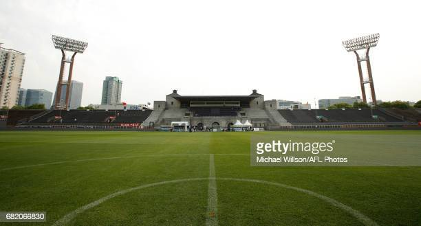 A general view during a tour of Jiangwan Stadium ahead of the round eight AFL match between the Gold Coast Suns and Port Adelaide Power on May 11...