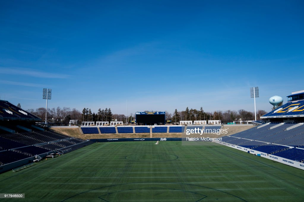 A general view during a tour of the Navy-Marine Corps Memorial Stadium, the site of the 2018 Coors Light NHL Sadium Series game between the Toronto Maple Leafs and Washington Capitals, on February 13, 2018 in Annapolis, Maryland.