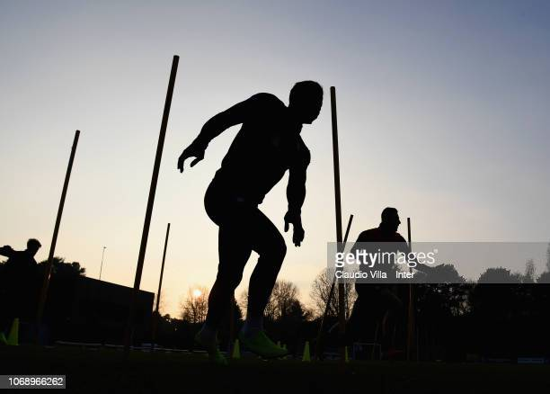 A general view during a training session at the club's training ground Suning Training Center in memory of Angelo Moratti at Appiano Gentile on...