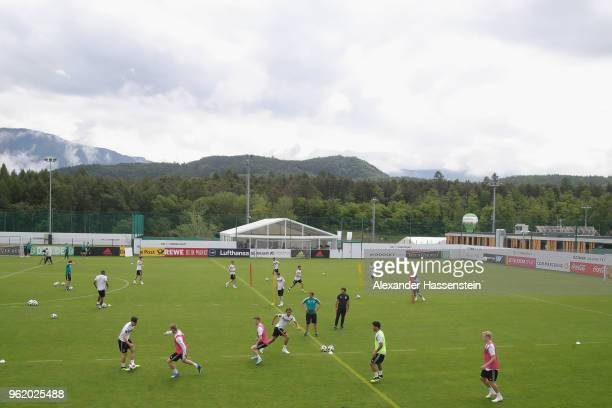 General view during a training session of the German national team at Sportanlage Rungg on day two of the Southern Tyrol Training Camp on May 24 2018...