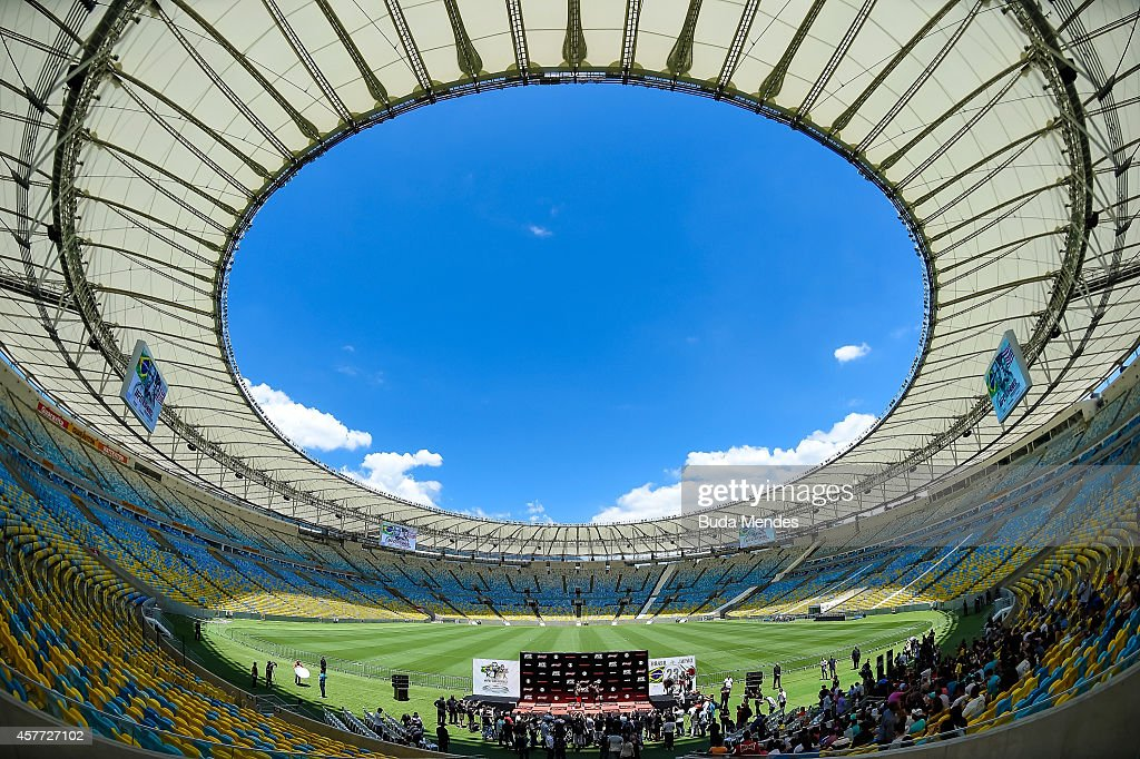 A general view during a William 'Patolino' Macario holds an open training session for media at Maracana Stadium on October 23, 2014 in Rio de Janeiro, Brazil.