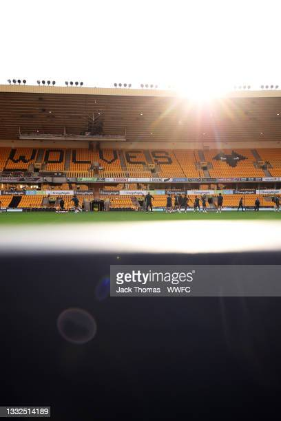 General view during a Wolverhampton Wanderers Pre-Season Training Session at Molineux on August 04, 2021 in Wolverhampton, England.