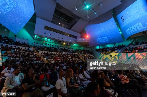 General view during ABFF Talks A Conversation with Ryan Coogler at the New World Center during the 22nd Annual American Black Film Festival on June...
