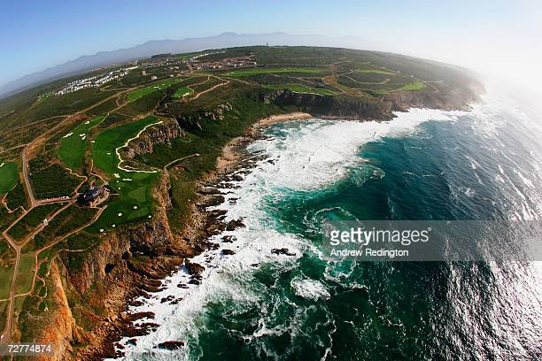 A general view during an aerial photoshoot of The Caves Course at Pinnacle Point Beach and Golf Resort on December 4 2006 in Mossel Bay South Africa