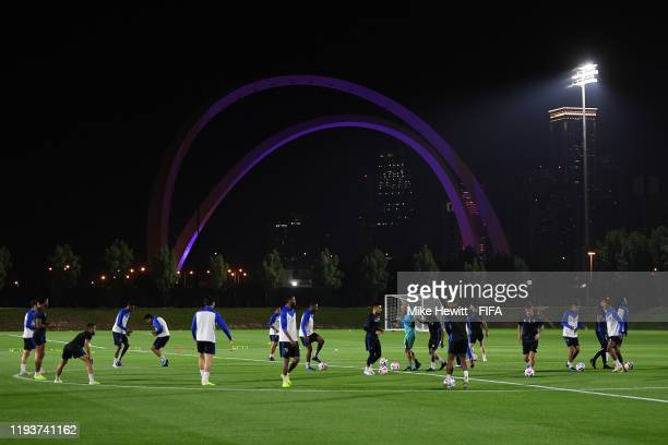 General view during an Al Hilal training session at the Al Wahda Training Site on December 13 2019 in Doha Qatar