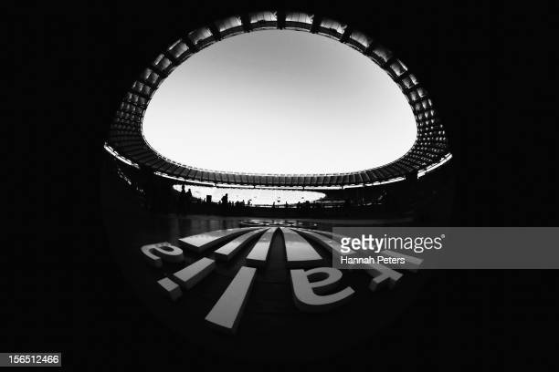 A general view during an All Blacks captain's run at Stadio Olimpico on November 16 2012 in Rome Italy