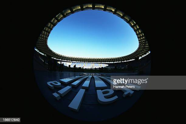 General view during an All Blacks captain's run at Stadio Olimpico on November 16, 2012 in Rome, Italy.