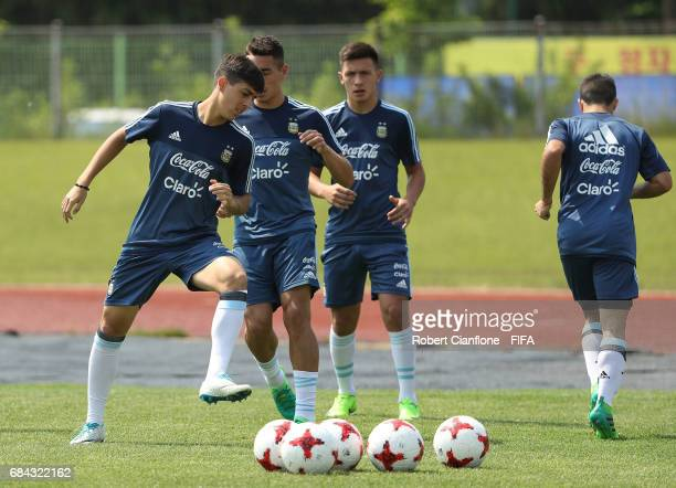 A general view during an Argentina training session at the Jeonju World Cup Stadium Auxiliary Field ahead of the FIFA U20 World Cup on May 18 2017 in...