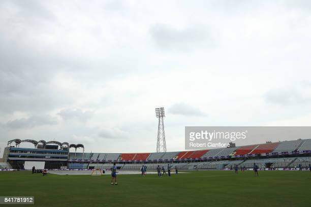 General view during an Australia nets session at Zahur Ahmed Chowdhury Stadium on September 2, 2017 in Chittagong, Bangladesh.