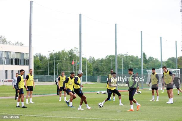 A general view during an England training session on June 21 2018 in Saint Petersburg Russia