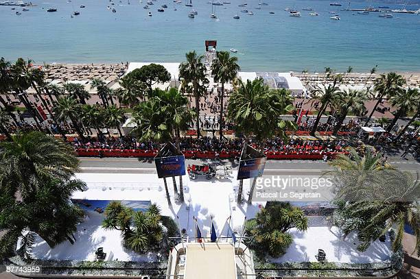 A general view during arrivals for at Disney's 'A Christmas Carol' at the Carlton Hotel during the 62nd International Cannes Film Festival on May 18...
