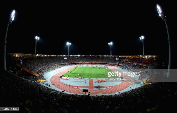 A general view during athletics on day nine of the Gold Coast 2018 Commonwealth Games at Carrara Stadium on April 13 2018 on the Gold Coast Australia