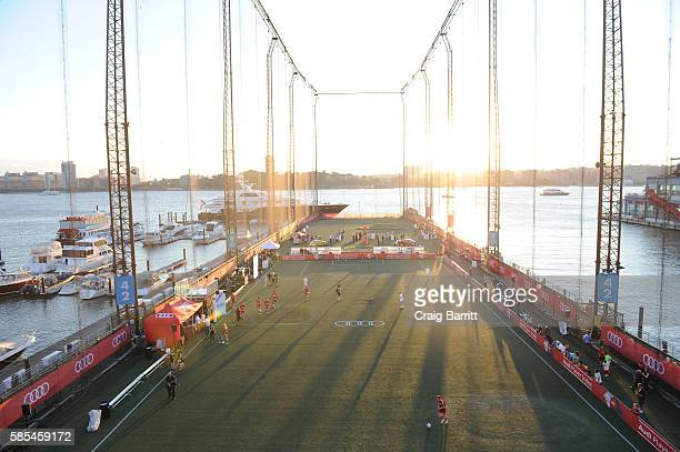General view during Audi Player Index PickUp Match at Chelsea Piers on August 2 2016 in New York City
