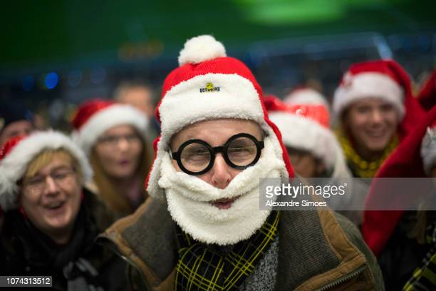 A general view during Borussia Dortmund's Advent Choral Concert with 50000 fans at the Signal Iduna Park on December 16 2018 in Dortmund Germany