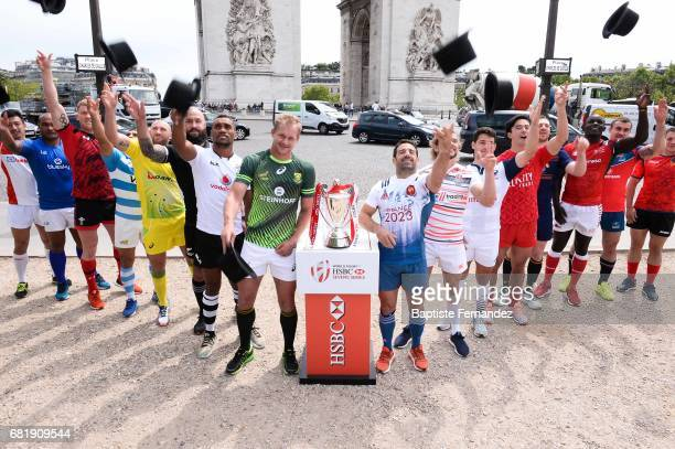 General view during Captains photocall and press conference prior to the Hsbc Paris Rugby Sevens on May 11 2017 in Paris France