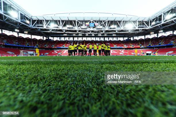 A general view during Colombia Training at Spartak Stadium on July 2 2018 in Moscow Russia