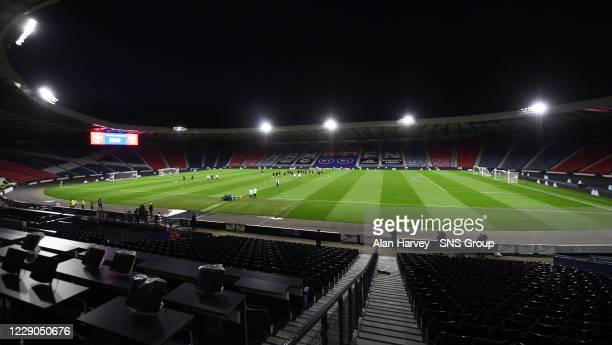 General view during Czech Republic Media Access at Hampden Park, on October 13 in Glasgow, Scotland.
