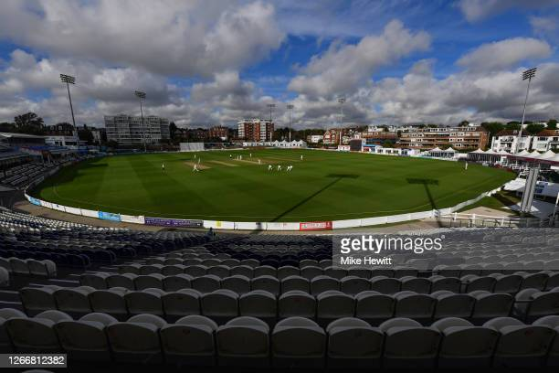 General view during Day 3 of the Bob Willis Trophy match between Sussex and Essex at The 1st Central County Ground on August 17, 2020 in Hove,...