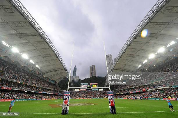 A general view during day 3 of the Plate Final match between South Africa and Wales 2014 HSBC Hong Kong Sevens at Hong Kong Stadium on March 30 2014...