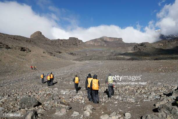 A general view during day five of 'Kilimanjaro The Return' for Red Nose Day on February 27 2019 in Arusha Tanzania all to raise funds for Comic...