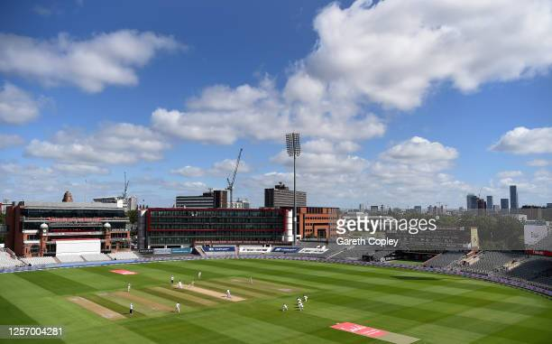 General view during Day Four of the 2nd Test Match in the #RaiseTheBat Series between England and The West Indies at Emirates Old Trafford on July...