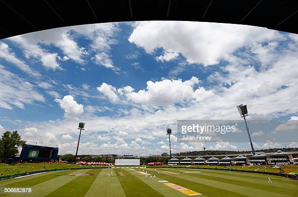 A general view during day four of the 4th Test at Supersport Park on January 25 2016 in Centurion South Africa