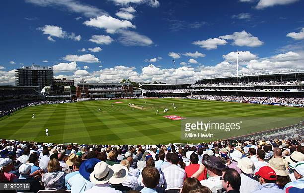 A general view during day four of the First Test match between England and South Africa at Lord's Cricket Ground on July 13 2008 in London England