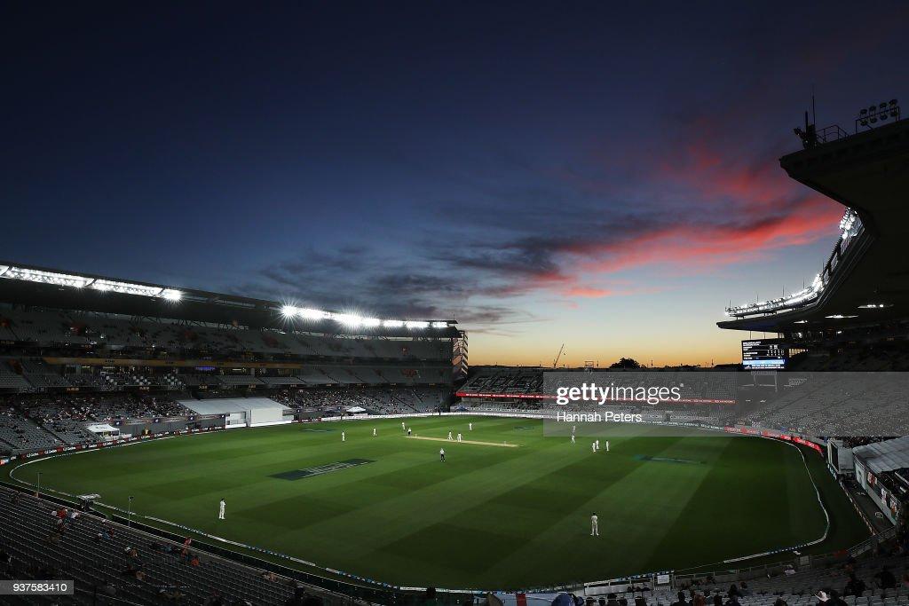 New Zealand v England - 1st Test: Day 4 : News Photo