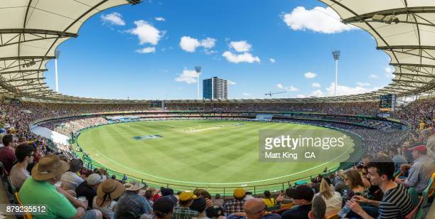 General view during day four of the First Test Match of the 2017/18 Ashes Series between Australia and England at The Gabba on November 26, 2017 in...