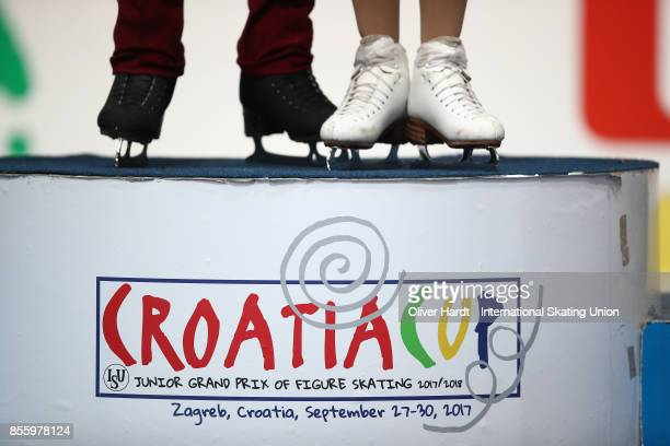 A general view during day four of the ISU Junior Grand Prix of Figure Skating at Dom Sportova Arena on September 30 2017 in Zagreb Croatia