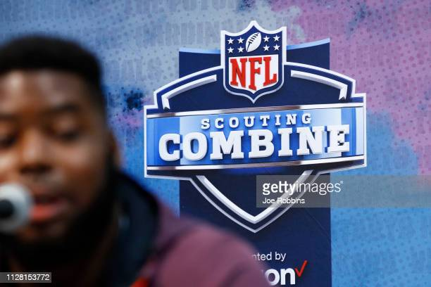 General view during day one of interviews at the NFL Combine at Lucas Oil Stadium on February 28 2019 in Indianapolis Indiana