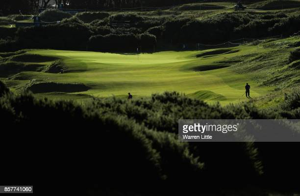 A general view during day one of the 2017 Alfred Dunhill Championship at Kingsbarns on October 5 2017 in St Andrews Scotland