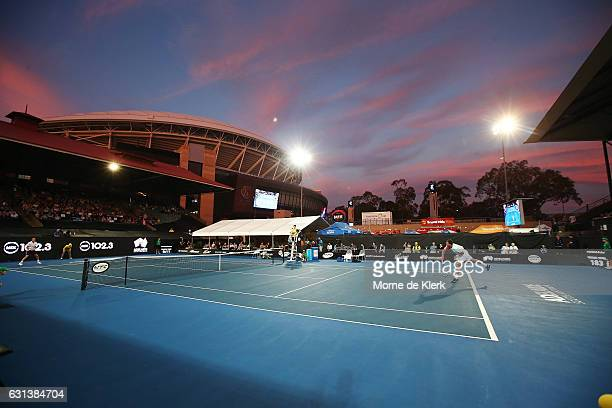 A general view during day one of the 2017 World Tennis Challenge at Memorial Drive on January 10 2017 in Adelaide Australia