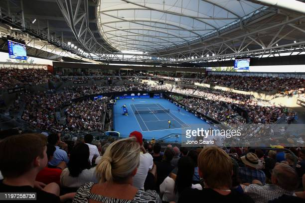 A general view during day one of the 2020 ATP Cup Group Stage at Pat Rafter Arena on January 03 2020 in Brisbane Australia